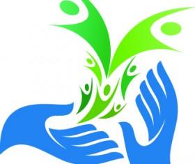 Hands logo design vector 04
