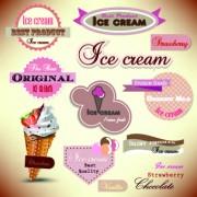 Link toIce cream labels design vector 01