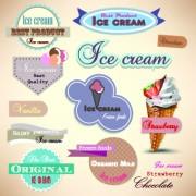 Link toIce cream labels design vector 02