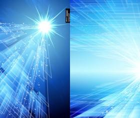 Technology of light background vector