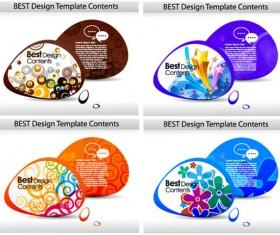 Fashion color dialog frames vector