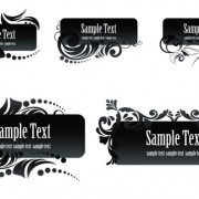 Link toBlack aesthetic text frames vector