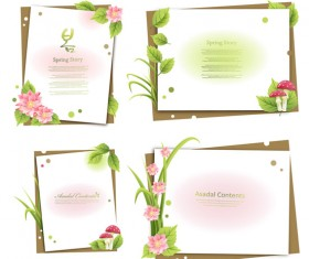 Plant flowers text vector