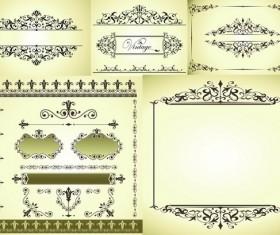 Elegant border patterns vector
