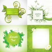 Link toGreen plants decorative frame vector
