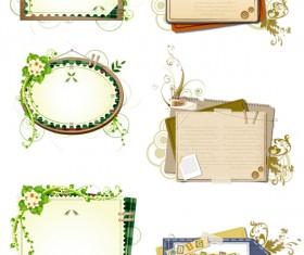 Plant decorative text frames vector