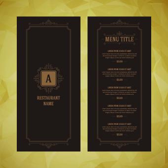 Luxurious restaurant menu vector set 02