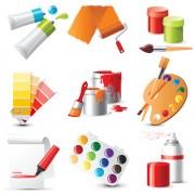 Link toBright paints colors design vector 01