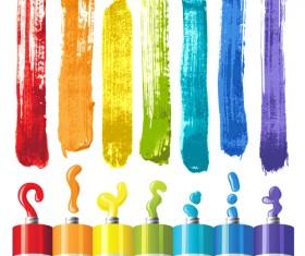 Bright paints colors design vector 02