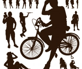 People Vector Silhouettes 03