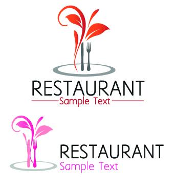 Restaurant Logos with Menu Illustration vector 02 - Vector Logo ...