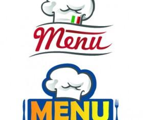Restaurant Logos with Menu Illustration vector 04