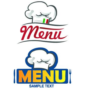 Restaurant Logos with Menu Illustration vector 04 - Vector Logo ...