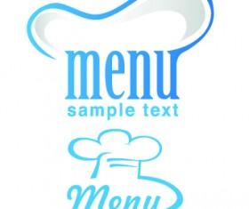 Restaurant Logos with Menu Illustration vector 05