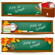 Link toSchool accessories vector background set 02