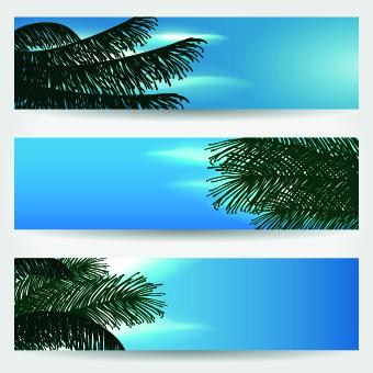 Summer Banners design vector 01