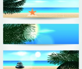 Summer Banners design vector 02