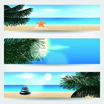 Summer Banners design vector 02
