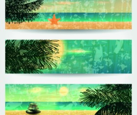 Summer Banners design vector 03