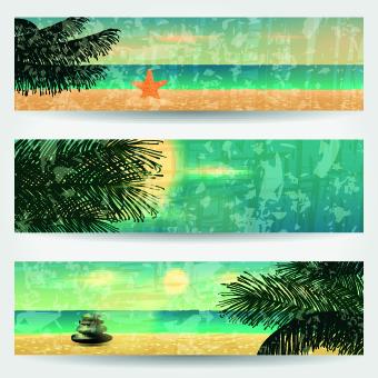 Summer Banners design vector 03