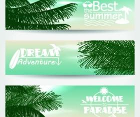 Summer Banners design vector 05