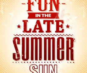 Excellent summer party flyer design elements 01