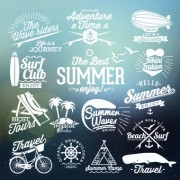 Link toSummer vacation travel labels with logos vector 01