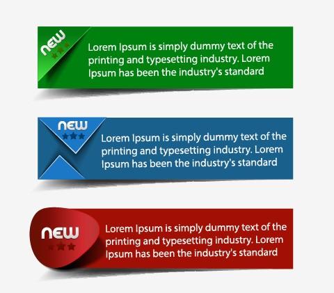 Banners web design vector 01.