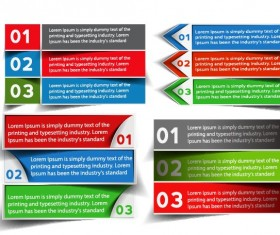 Banners web design vector 05