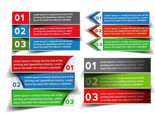 Banners web design vector 05