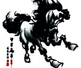 2014 horse Year design element 04