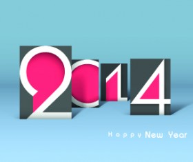 2014 year vector background set 02