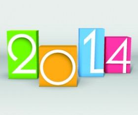 2014 year vector background set 03