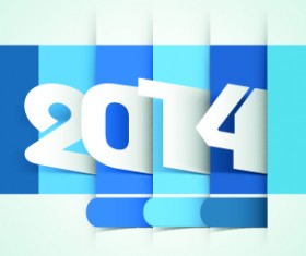 2014 year vector background set 04