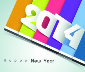 2014 year vector background set 05