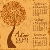 2014 year calendar vector set 02