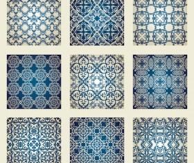 Ornate Seamless pattern vector 02