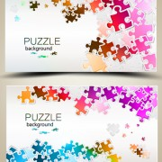 Link toShiny puzzle background vector 02