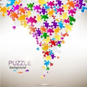 Link toShiny puzzle background vector 04