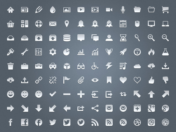 Small fine web icons