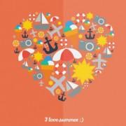 Link toI love summer heart vector