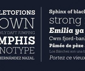 Exquisite font set