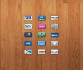 Bank Card icons psd