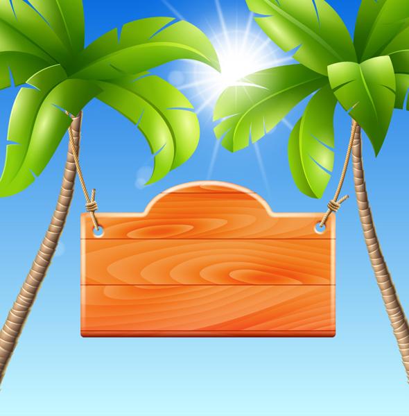 Coconut tree with billboard vector over millions vectors stock coconut tree with billboard vector toneelgroepblik Image collections