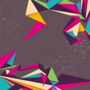 Link toColor origami style background