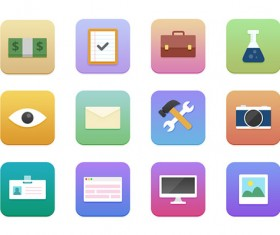 Small fine web icons psd