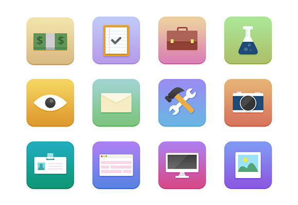 Small fine web icons psd