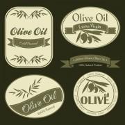 Link toOlive oil vintage labels vector
