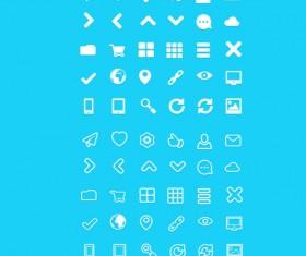 White web psd Icons