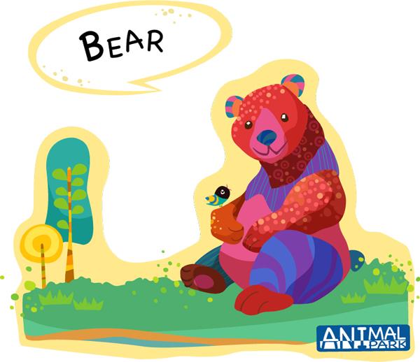 Draw bear vector